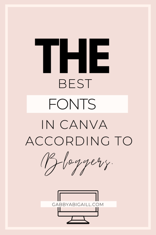 the best fonts in canva according to bloggers