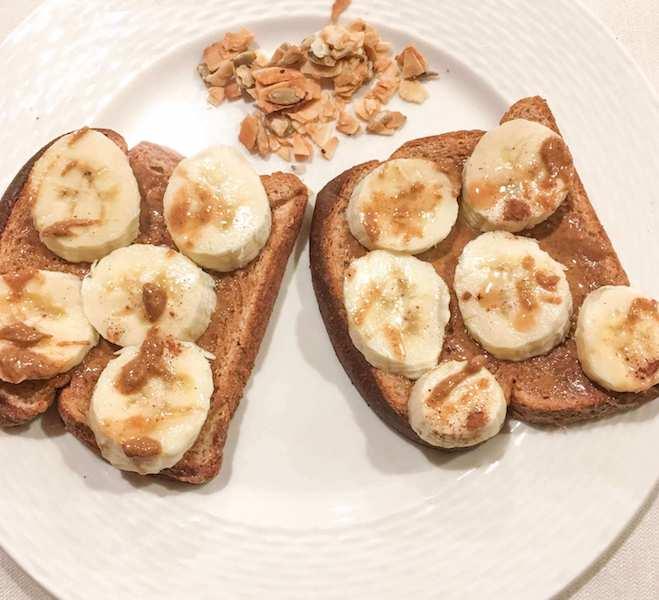 almond butter banana toast