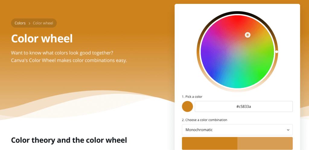 Color wheel website