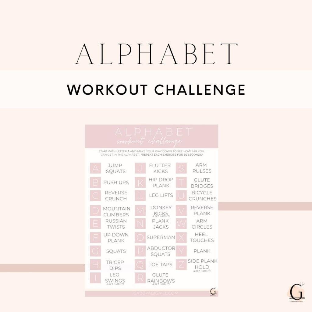 Alphabet Workout Challenge Printable