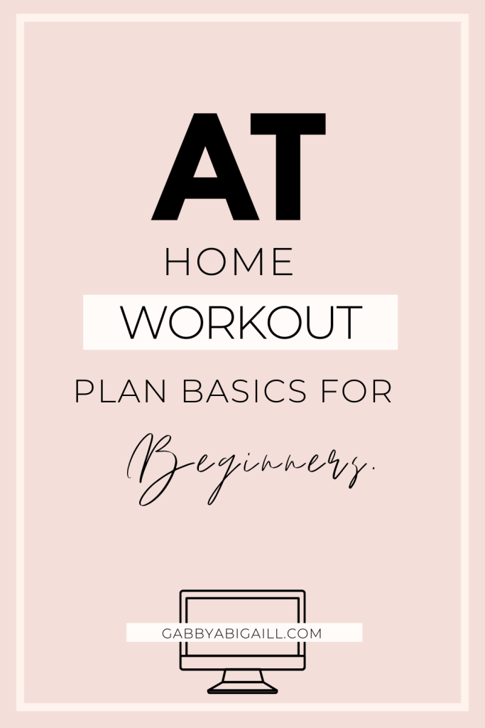 at home workout plan basics for beginners