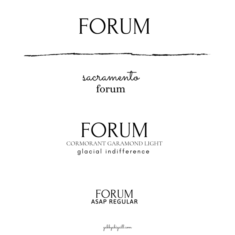 forum font and other canva fonts to use in your graphics.