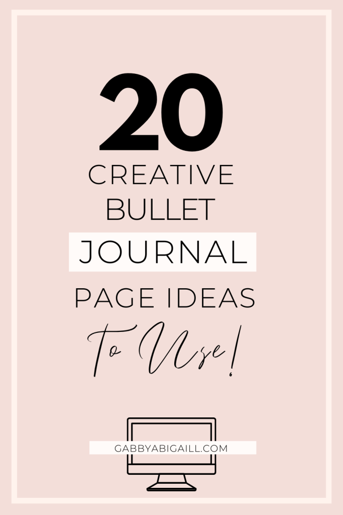 20 creative bullet journal page ideas to use