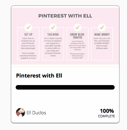 Ell's Pinterest Course Description