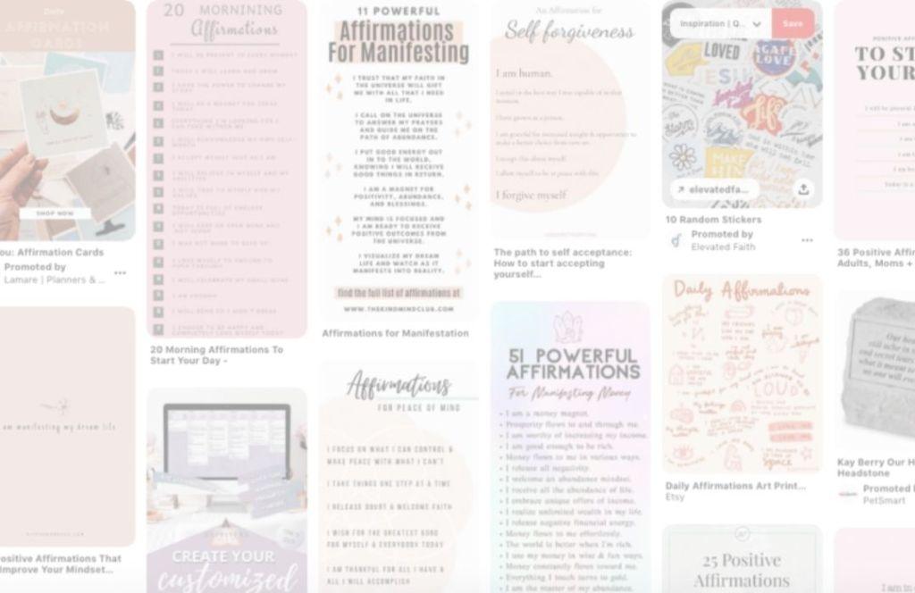 affirmations on Pinterest