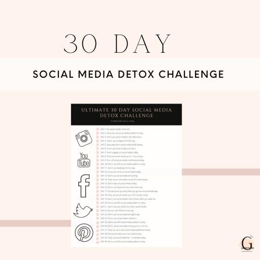 30 day social media detox challenge printable