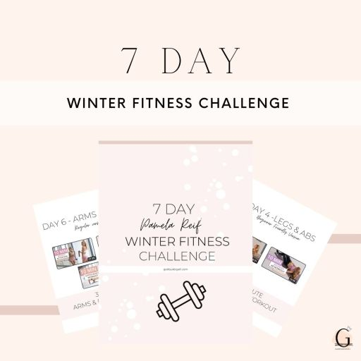7 day winter fitness challenge printable