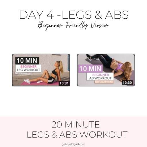 day 4 legs & arms beginner friendly