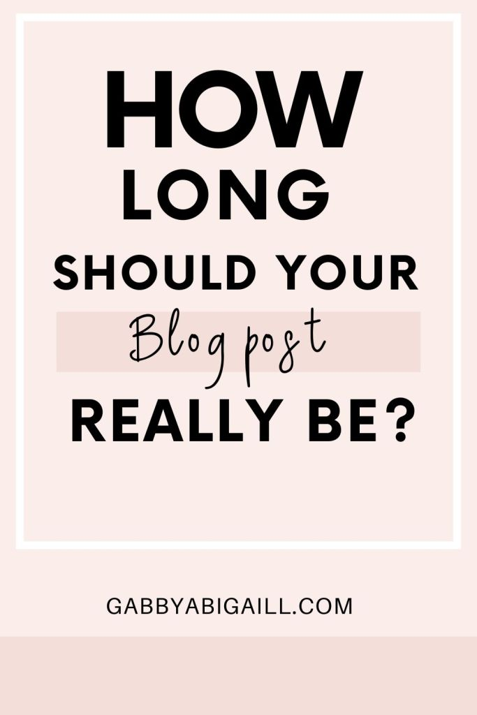 how long should your blog post really be