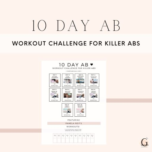10 day ab workout challenge printable