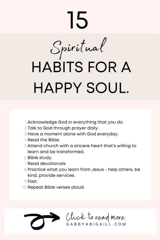 15 spiritual habits for a happy soul