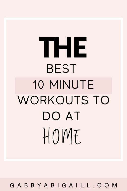 the best 10 minute workouts to do at home