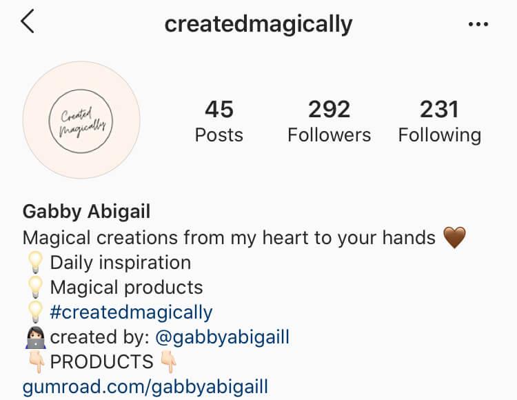 instagram account @createdmagically