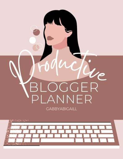 productive blogger planner cover