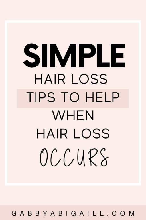 simple hair loss tips to help when hair loss occurs