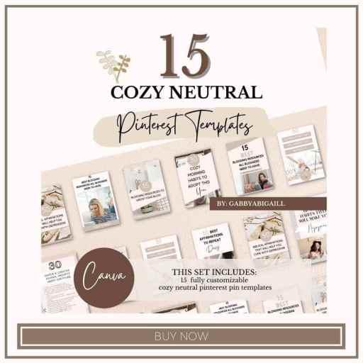 15 cozy neutrals pinterest templates