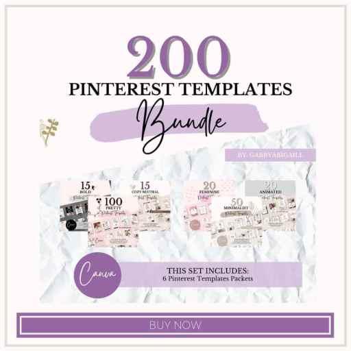 200 pinterest templates shop