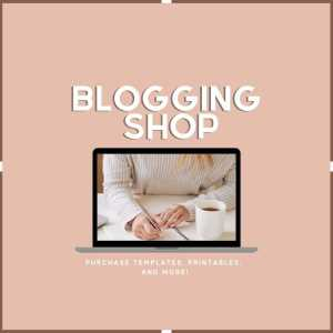 blogging shop widget