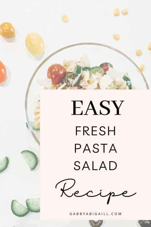 easy fresh pasta salad recipe