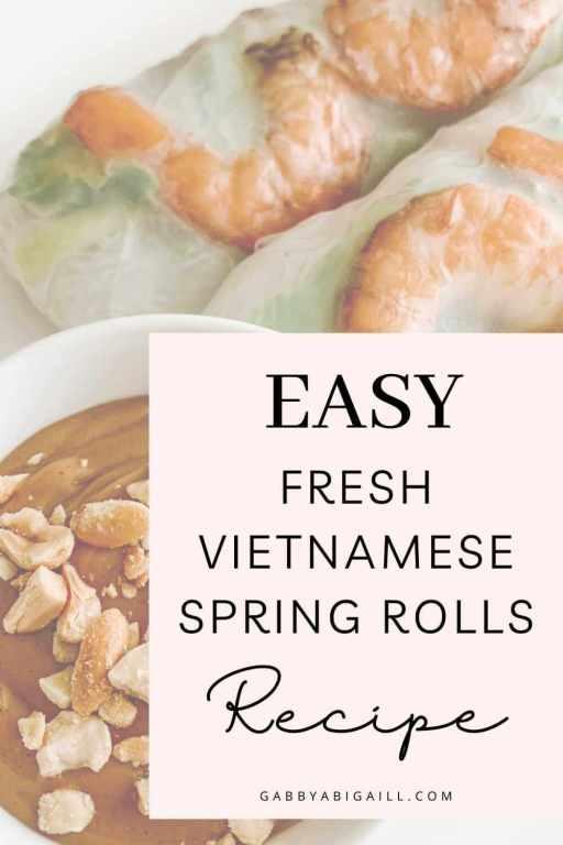 easy fresh vietnamese spring rolls recipe