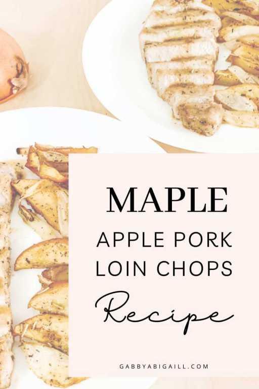 maple apple pork loin chops recipe