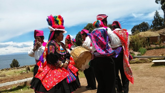 lake Titicaca Peru dancing