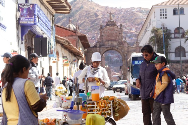 street food ways to save money in cusco Peru