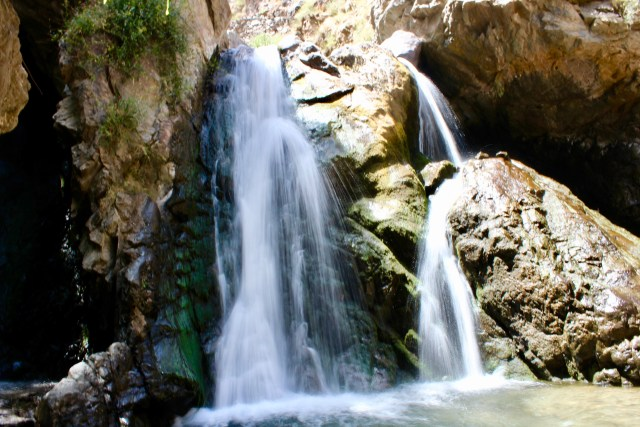 small waterfall imlil Morocco budget travel guide