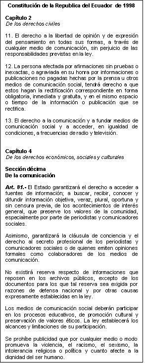 La Comunicación en la Constitución 2008 (2/2)