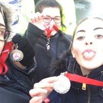 well deserved medals girls!