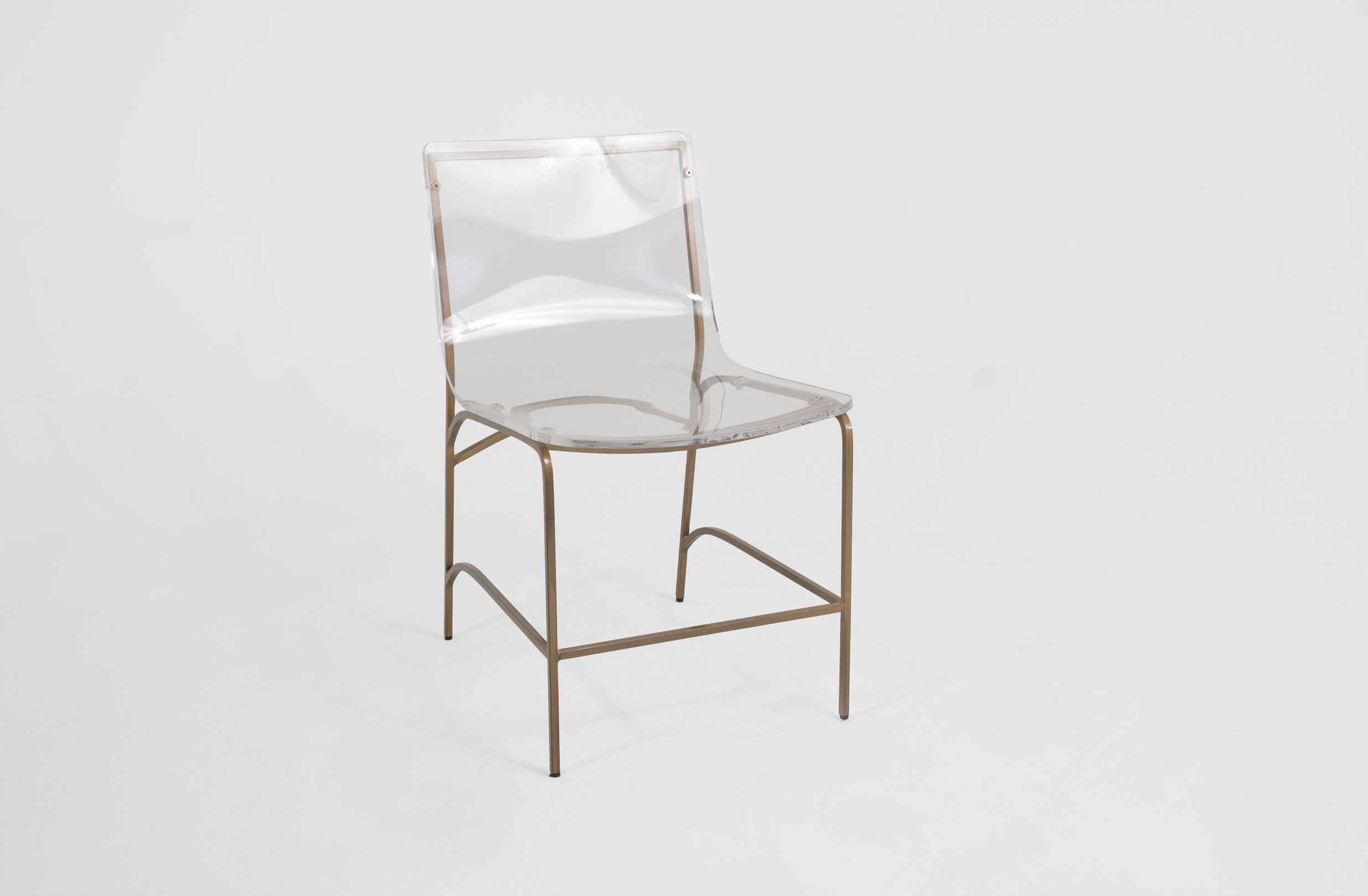 Gold And Lucite Dining Chair