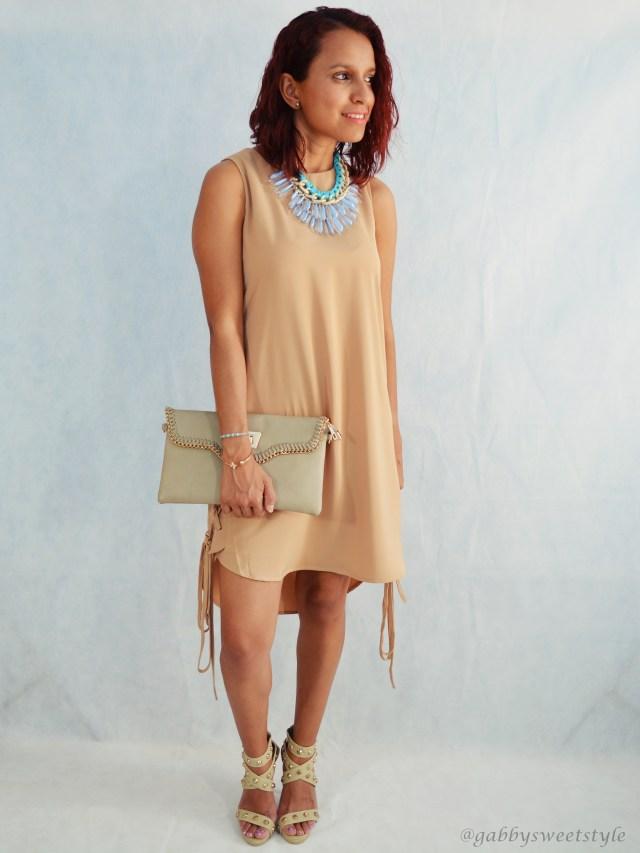Vestido camel