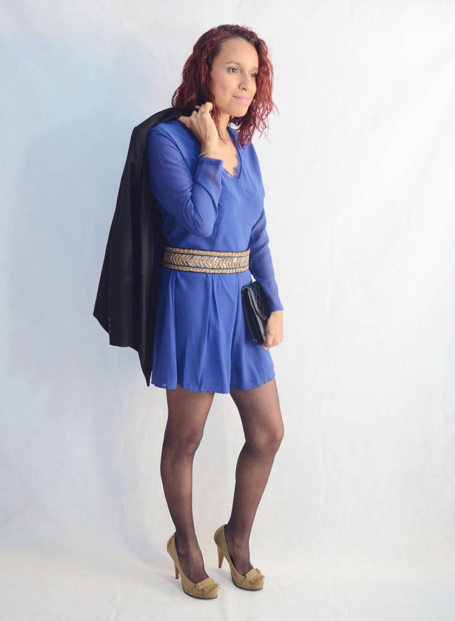 Look elegante con mono azul9