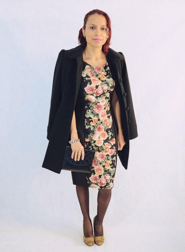 Look con vestido de flores 2