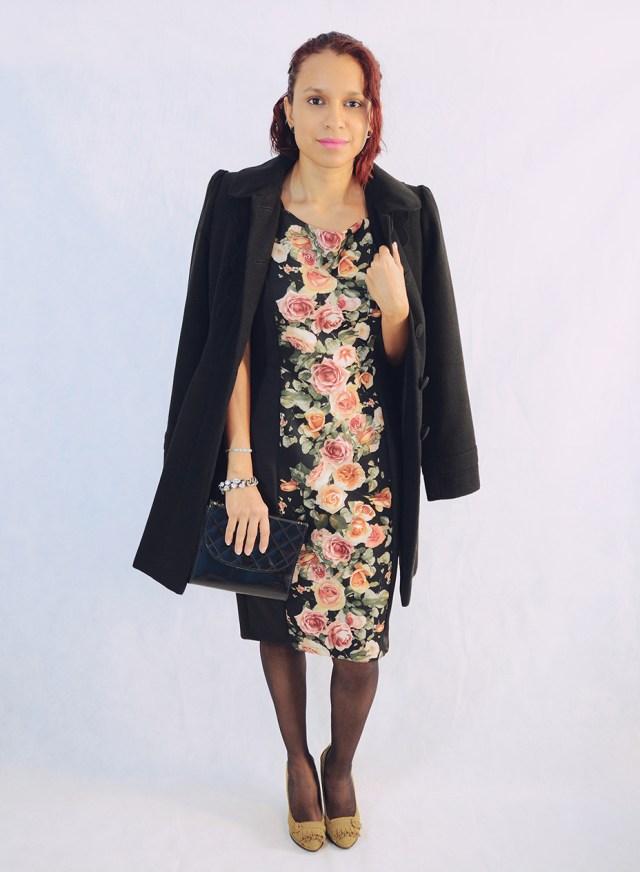 Look con vestido de flores 4