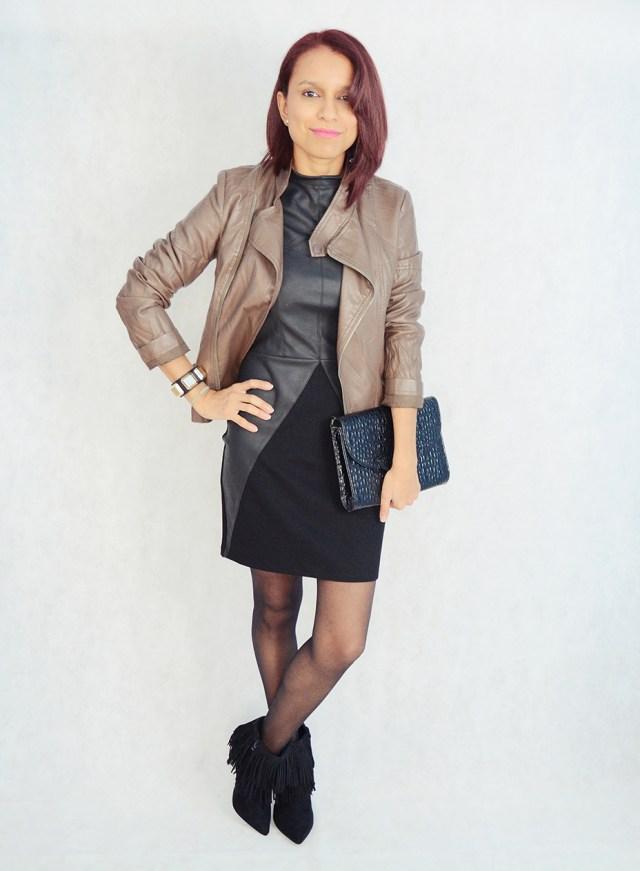 Look con vestido y flecos 4