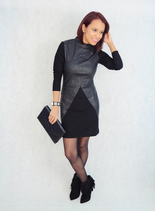 Look con vestido y flecos 8