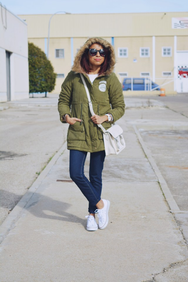 Look casual con parka 6