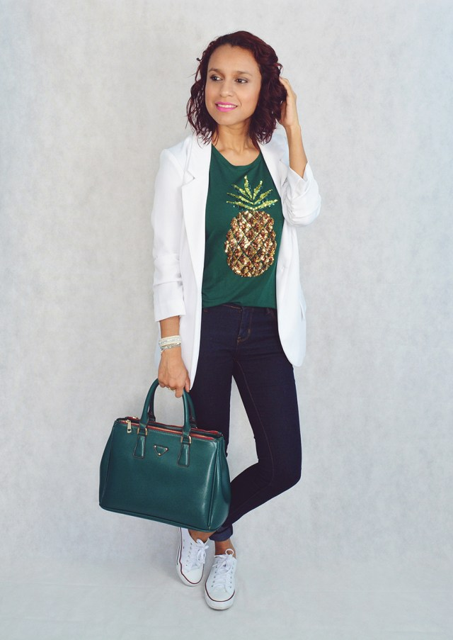 Look casual con camiseta estampada 5