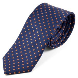 corbata-azul-con-puntos-naranjas-trendhim