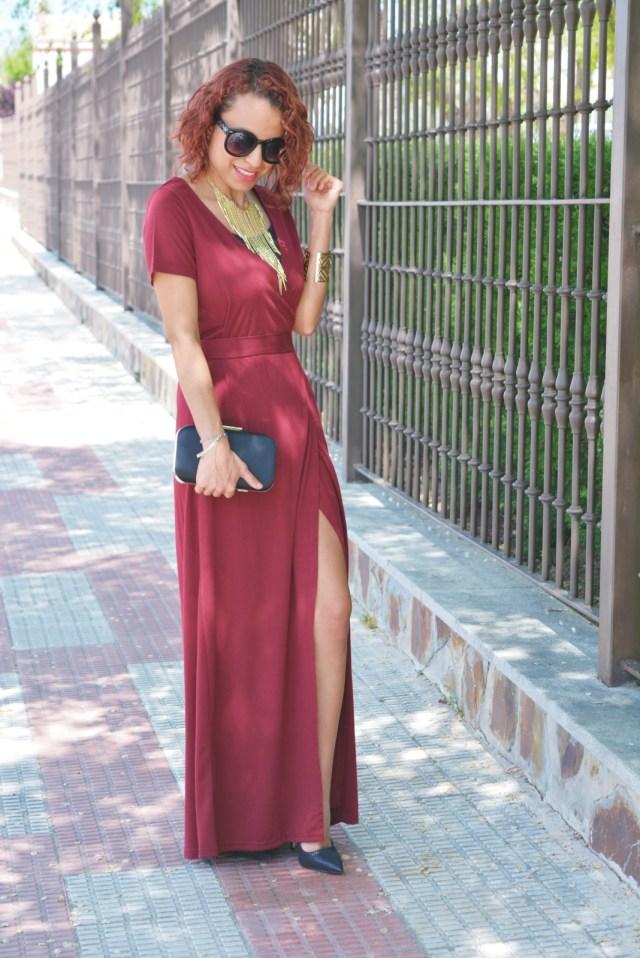 Vestido rojo y stilettos