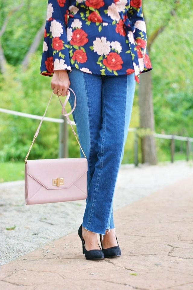 Bolso rosa y Stilettos