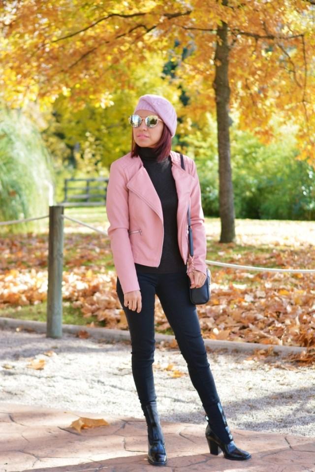Look en rosa y negro