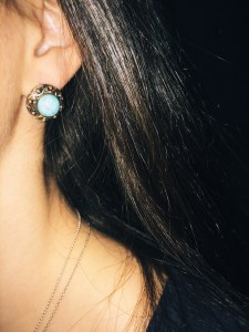 forever 21 gilded turquoise studs