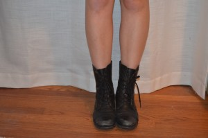 boots: steve madden leather combat boots