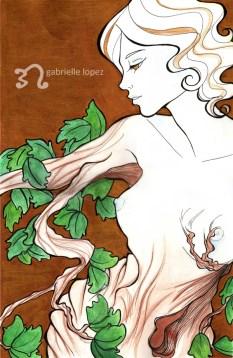 """Daphne"", Mixed Media, A3, 2009"