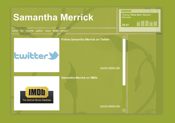 Samantha Merrick, Actor - Social Media
