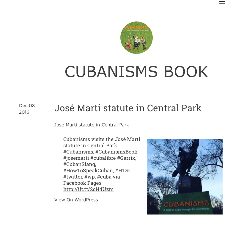 Cubanisms Book on Tumblr