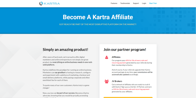 The best way to generate passive income and grow your business is with Kartra affiliate commissions.