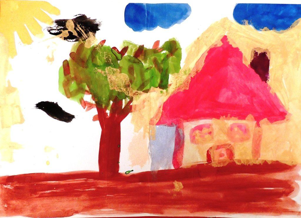 Obraznicaturi: casa cu acoperis roz